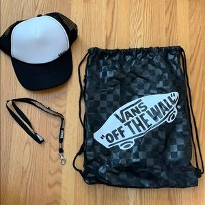 Vans Accessory Bundle (Cap, Bag, Lanyard)